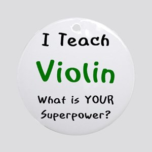teach violin Ornament (Round)